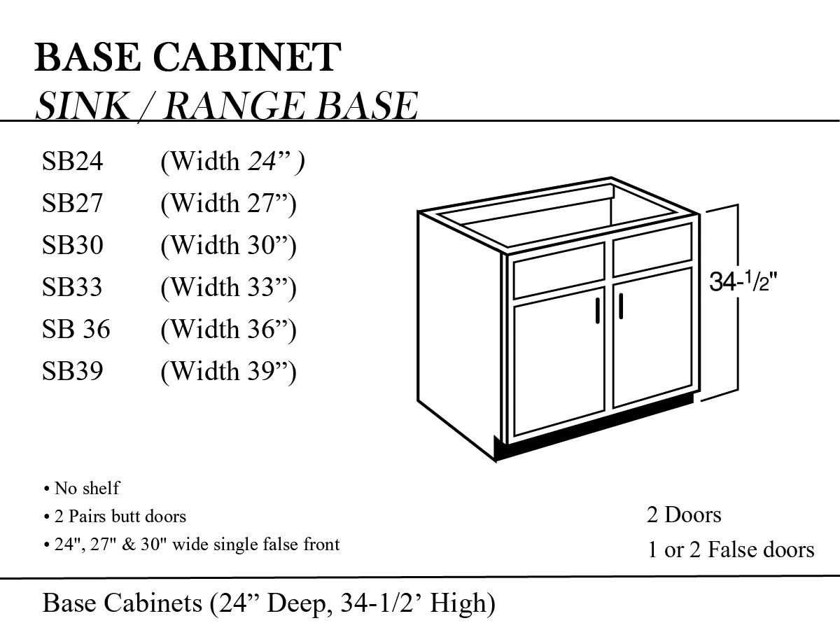 Kitchen Base Cabinets Width Corner Cabinet Sizes
