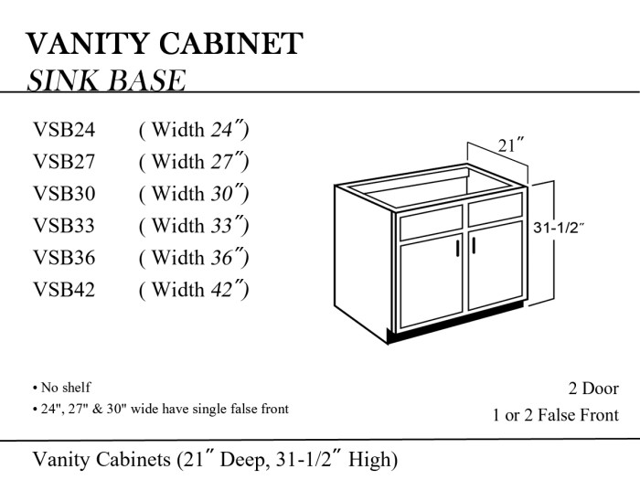 42 sink base