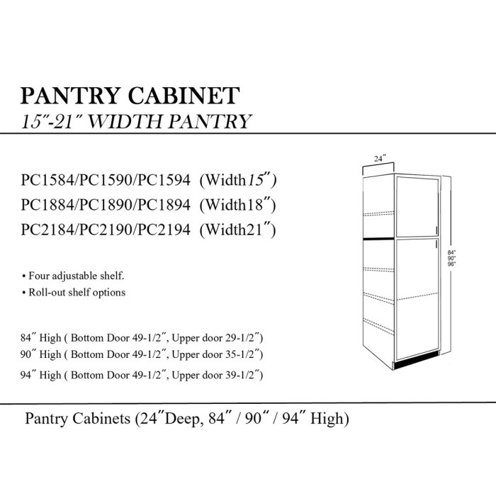 Pantry Cabinet 15 21 Calgary Cabinets Depot